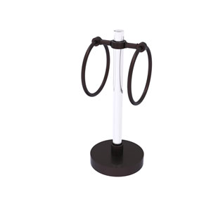 Clearview Antique Bronze Six-Inch Towel Ring with Groovy Accents