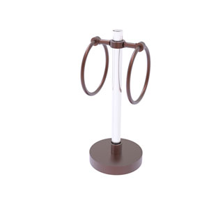 Clearview Antique Copper Six-Inch Towel Ring with Groovy Accents