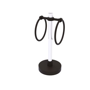 Clearview Oil Rubbed Bronze Six-Inch Towel Ring with Groovy Accents