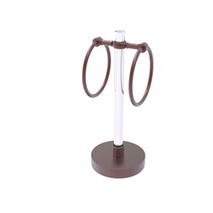 Clearview Antique Copper Six-Inch Vanity Top Guest Towel Ring with Twisted Accents