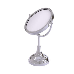 Polished Chrome Eight-Inch Vanity Top Make-Up Mirror 2X Magnification