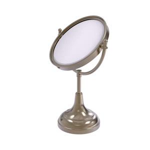 Antique Pewter Eight-Inch Vanity Top Make-Up Mirror 2X Magnification
