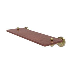 Dottingham Satin Brass 16-Inch Solid IPE Ironwood Shelf