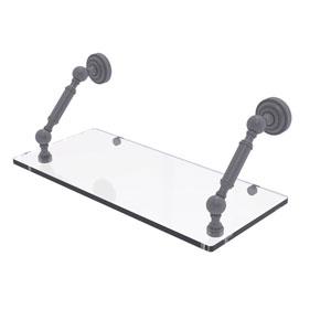 Dottingham Matte Gray 18-Inch Floating Glass Shelf
