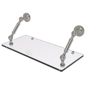 Dottingham Satin Nickel 18-Inch Floating Glass Shelf