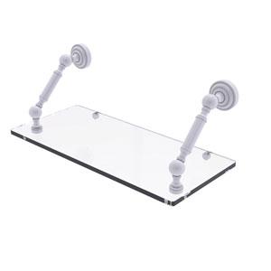 Dottingham Matte White 18-Inch Floating Glass Shelf