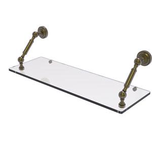 Dottingham Antique Brass 24-Inch Floating Glass Shelf