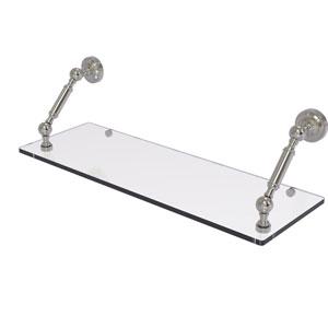 Dottingham Satin Nickel 24-Inch Floating Glass Shelf
