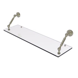 Dottingham Polished Nickel 30-Inch Floating Glass Shelf