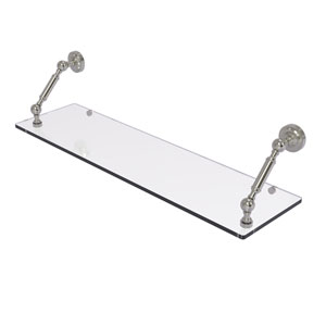 Dottingham Satin Nickel 30-Inch Floating Glass Shelf