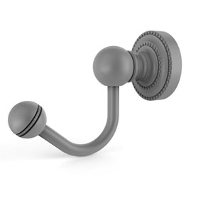 Dottingham Matte Gray Two-Inch Robe Hook