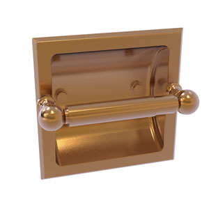 Dottingham Brushed Bronze Six-Inch Recessed Toilet Paper Holder