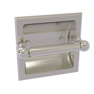 Dottingham Satin Nickel Six-Inch Recessed Toilet Paper Holder