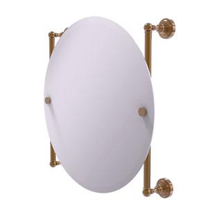 Dottingham Brushed Bronze 22-Inch Round Frameless Rail Mounted Mirror