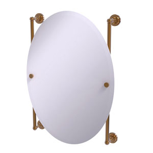 Dottingham Brushed Bronze 21-Inch Oval Frameless Rail Mounted Mirror