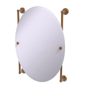 Dottingham Brushed Bronze 21-Inch Oval Frameless Rail Mounted Mirror