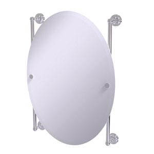 Dottingham Polished Chrome 21-Inch Oval Frameless Rail Mounted Mirror
