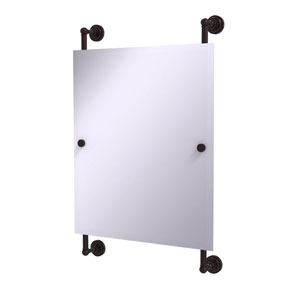 Dottingham Antique Bronze 21-Inch Rectangular Frameless Rail Mounted Mirror