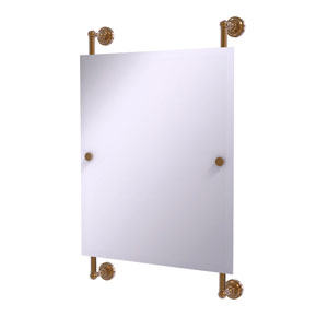 Dottingham Brushed Bronze 21-Inch Rectangular Frameless Rail Mounted Mirror