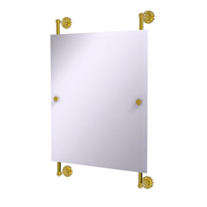 Dottingham Polished Brass 21-Inch Rectangular Frameless Rail Mounted Mirror