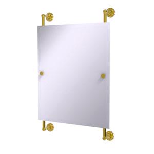 Dottingham Polished Brass 21-Inch Rectangular Frameless Rail Mounted Mirror