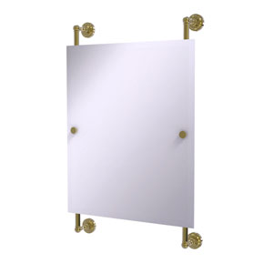 Dottingham Unlacquered Brass 21-Inch Rectangular Frameless Rail Mounted Mirror