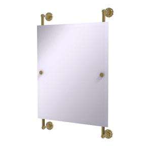 Dottingham Unlacquered Brass 21-Inch Rectangular Frameless Rail Mounted Mirror