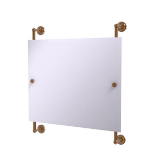 Dottingham Brushed Bronze 26-Inch Landscape Rectangular Frameless Rail Mounted Mirror