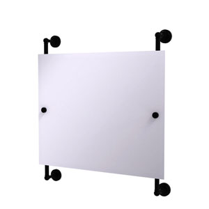 Dottingham Matte Black 26-Inch Landscape Rectangular Frameless Rail Mounted Mirror