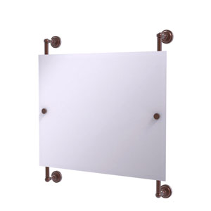 Dottingham Antique Copper 26-Inch Landscape Rectangular Frameless Rail Mounted Mirror