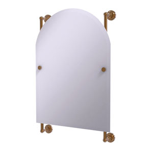 Dottingham Brushed Bronze 21-Inch Arched Top Frameless Rail Mounted Mirror