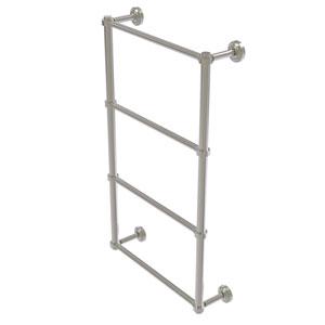 Dottingham Satin Nickel 30-Inch Four-Tier Ladder Towel Bar