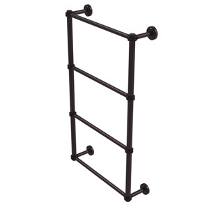Dottingham Antique Bronze 36-Inch Four Tier Ladder Towel Bar with Dotted Detail