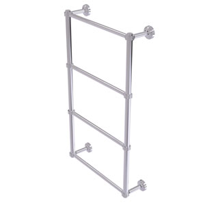 Dottingham Polished Chrome 36-Inch Four Tier Ladder Towel Bar with Dotted Detail