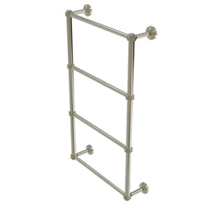 Dottingham Polished Nickel 36-Inch Four Tier Ladder Towel Bar with Dotted Detail
