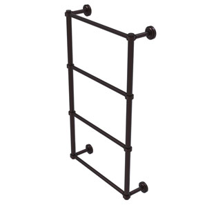 Dottingham Antique Bronze 30-Inch Four Tier Ladder Towel Bar with Groovy Detail