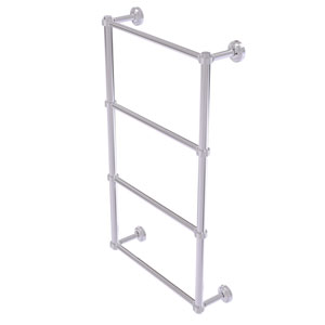 Dottingham Polished Chrome 36-Inch Four Tier Ladder Towel Bar with Groovy Detail