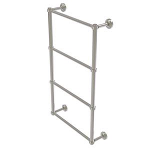 Dottingham Satin Nickel 36-Inch Four Tier Ladder Towel Bar with Groovy Detail