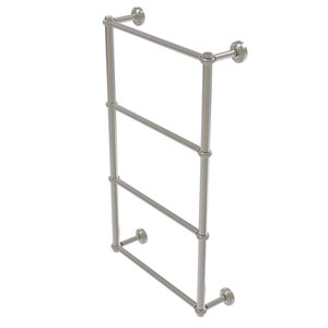 Dottingham Satin Nickel 30-Inch Four-Tier Ladder Towel Bar with Twisted Detail