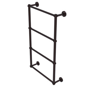 Dottingham Antique Bronze 36-Inch Four-Tier Ladder Towel Bar with Twisted Detail