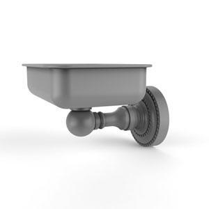 Dottingham Matte Gray Four-Inch Wall Mounted Soap Dish