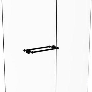 Dottingham Matte Black 18-Inch Back to Back Shower Door Towel Bar