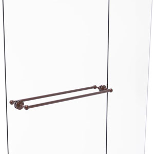 Dottingham Antique Copper 30-Inch Back to Back Shower Door Towel Bar