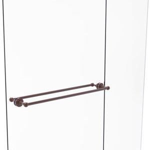 Dottingham Antique Copper 30-Inch Back to Back Shower Door Towel Bar
