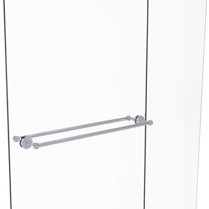 Dottingham Polished Chrome 30-Inch Back to Back Shower Door Towel Bar