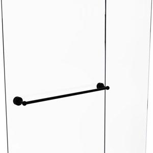 Dottingham Matte Black 30-Inch Shower Door Towel Bar