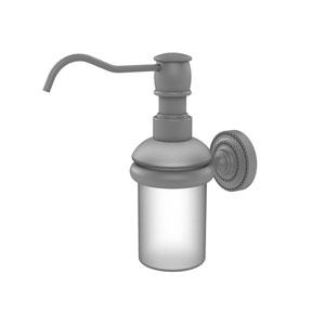 Dottingham Matte Gray Three-Inch Wall Mounted Soap Dispenser