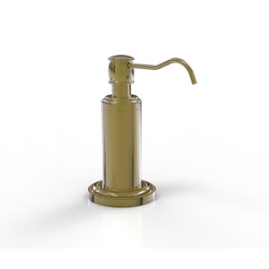 Dottingham Unlacquered Brass Five-Inch Vanity Top Soap Dispenser