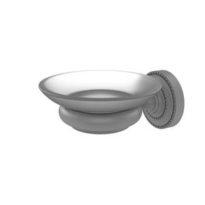 Dottingham Matte Gray Five-Inch Wall Mounted Soap Dish