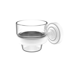 Dottingham Matte White Three-Inch Wall Mounted Votive Candle Holder